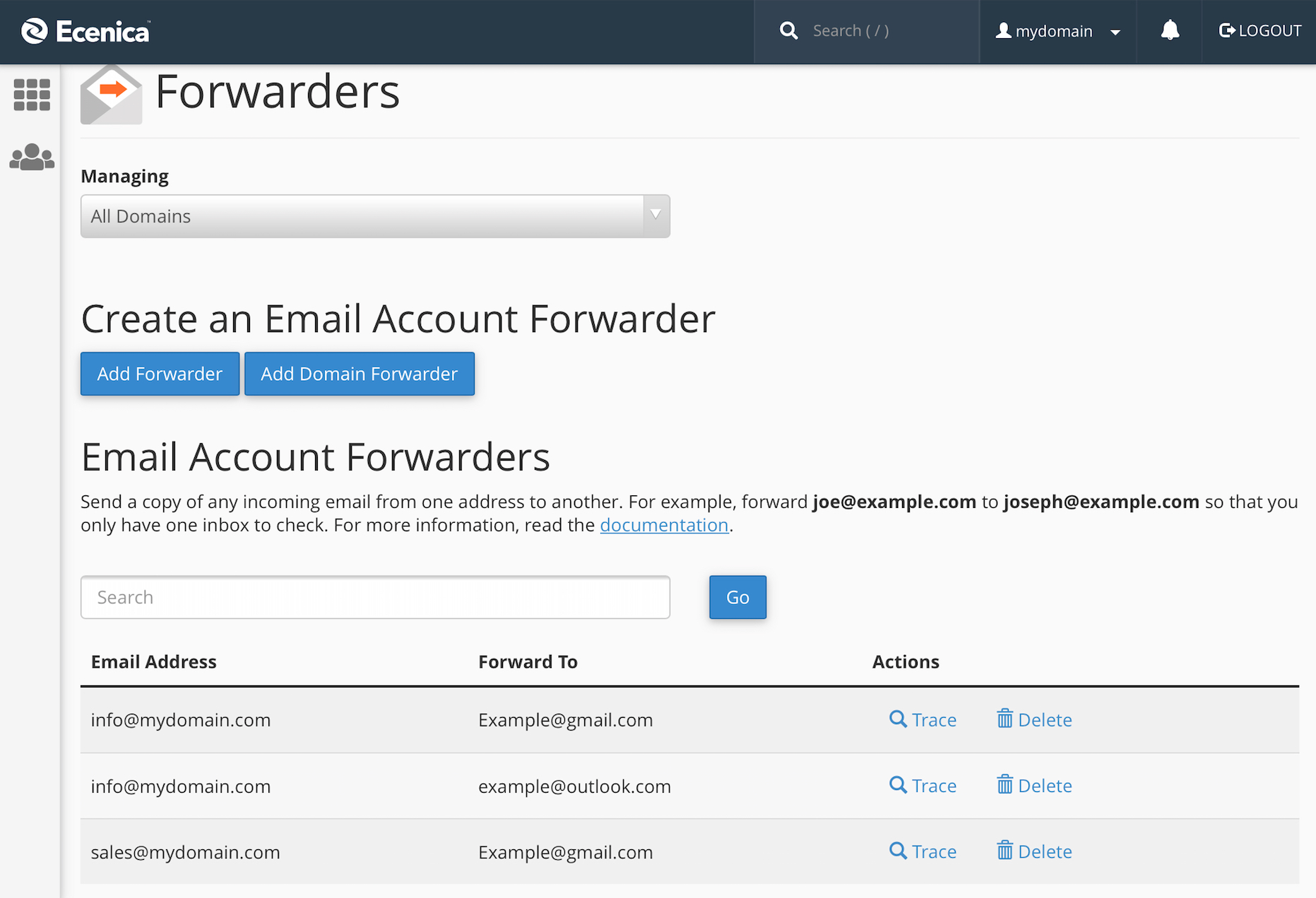 Cara Setting Email Forwarding